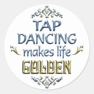 Tap Dancing is Golden Classic Round Sticker