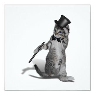 Tap Dancing Kitten 13 Cm X 13 Cm Square Invitation Card
