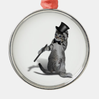 Tap Dancing Kitten Christmas Ornament