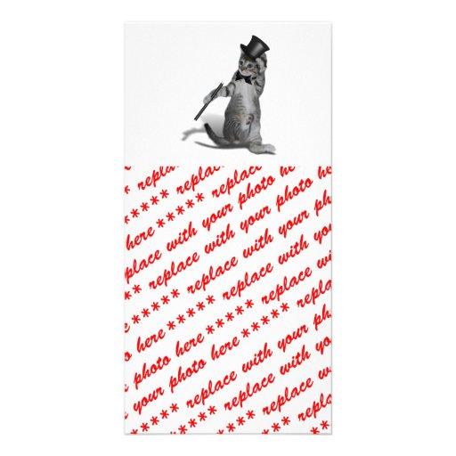Tap Dancing Kitten Customized Photo Card