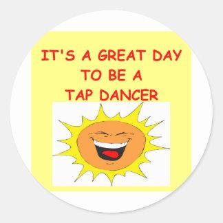 TAP dancing Round Sticker