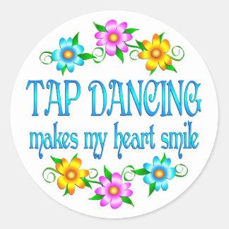 Tap Dancing Smiles Classic Round Sticker