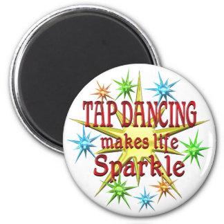 Tap Dancing Sparkles 6 Cm Round Magnet