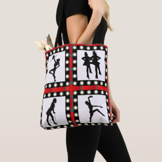 Tap Jazz Broadway Dancers Silhouettes With Marque Tote Bag