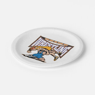 Tap Out Wrestlers 7 Inch Paper Plate