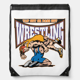 Tap Out Wrestlers Drawstring Backpacks