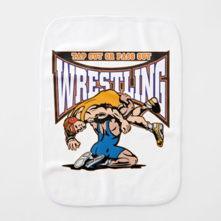 Tap Out Wrestlers Burp Cloths