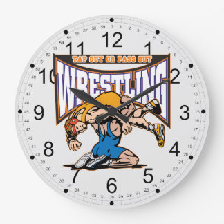 Tap Out Wrestlers Clock