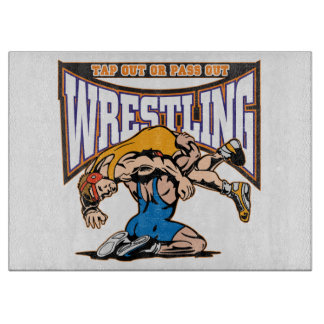 Tap Out Wrestlers Cutting Board
