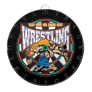 Tap Out Wrestlers Dartboard With Darts