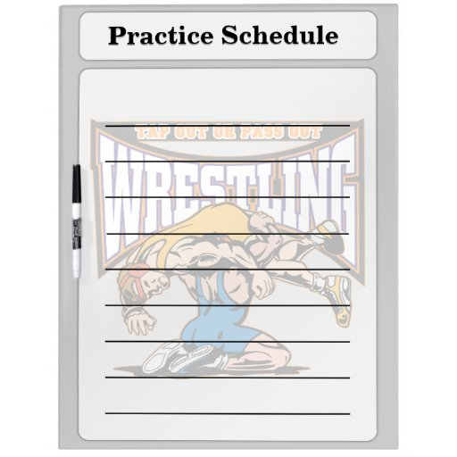 Tap Out Wrestlers Dry Erase Boards