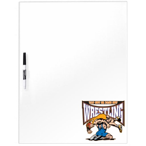 Tap Out Wrestlers Dry-Erase Boards