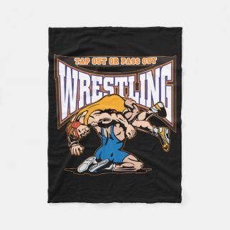 Tap Out Wrestlers Fleece Blanket