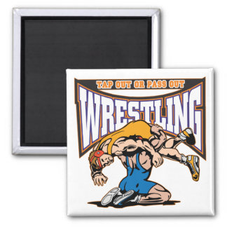 Tap Out Wrestlers Square Magnet