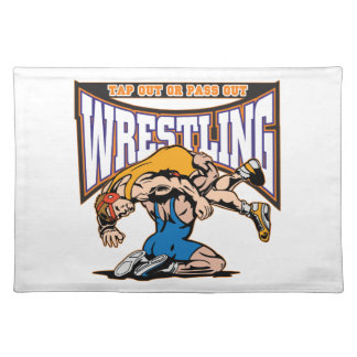 Tap Out Wrestlers Placemats