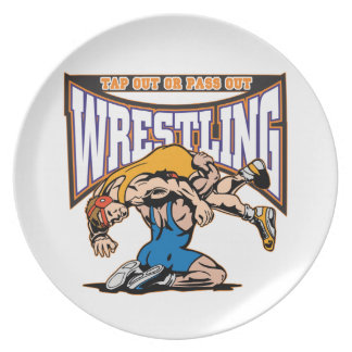 Tap Out Wrestlers Dinner Plates