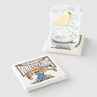 Tap Out Wrestlers Stone Coaster