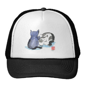 Tap, Tap, Tap Kitten wants to Play, Sumi-e Mesh Hat