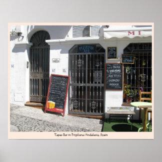 Tapas Bar in Frigiliana / Andalusia, Spain Poster