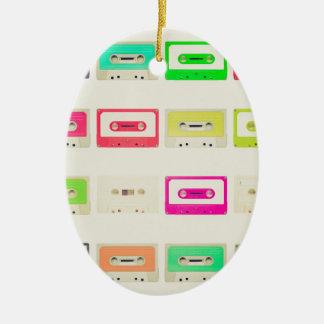 Tape cassette ceramic oval decoration
