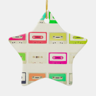 Tape cassette ceramic star decoration