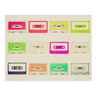 Tape cassette postcard