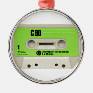Tape cassette Silver-Colored round decoration
