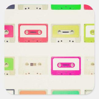Tape cassette square sticker