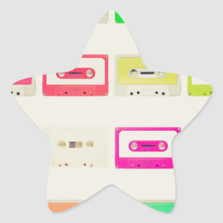 Tape cassette star sticker