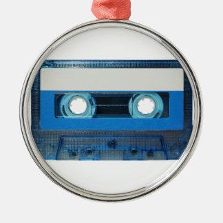 Tape cassette transparent background Silver-Colored round decoration