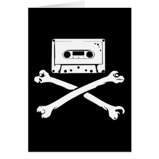 Tape & Crossbones Music Pirate Piracy Home Taping Greeting Card