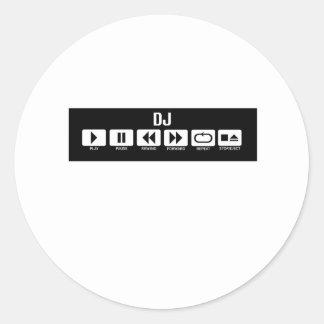 Tape Deck - DJ Round Sticker