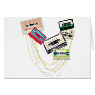 tape decks with bling greeting card