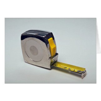 Tape for measuring objects card
