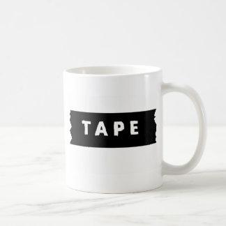Tape logo coffee mug