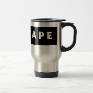 Tape logo travel mug
