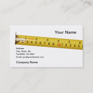 Tape measure business cards business card printing zazzle uk tape measure business card reheart Image collections