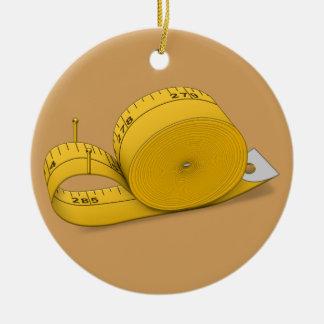 Tape Measure Snail Christmas Ornament