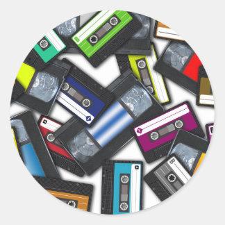 Tapes Round Sticker