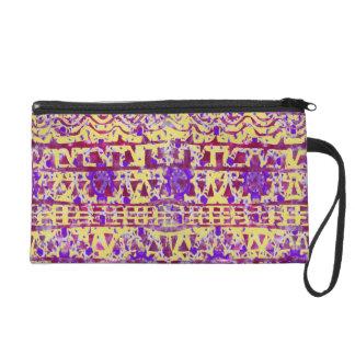 Tapestry Boho Pattern Clutch by KCS Wristlet Purses
