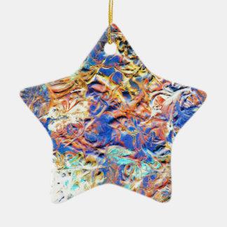 Tapestry Ceramic Star Decoration