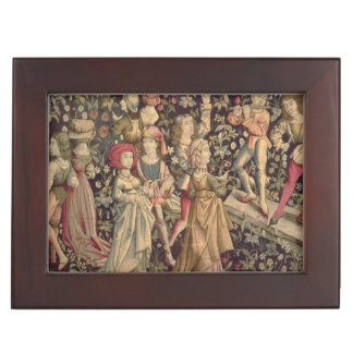 Tapestry depicting dancers and musicians keepsake box