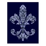 Tapestry Fleur de lis 1 Post Card