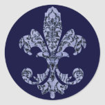 Tapestry Fleur de lis 1 Stickers