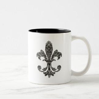 Tapestry Fleur de lis 2 Two-Tone Mug