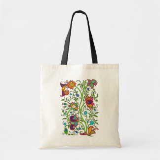 Tapestry Flowers and Vines Tote Bag