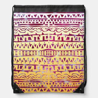 Tapestry Golden Tribal Tie-Dye Backpack by KCS