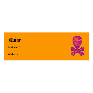 Tapestry Head Purple Business Card Templates