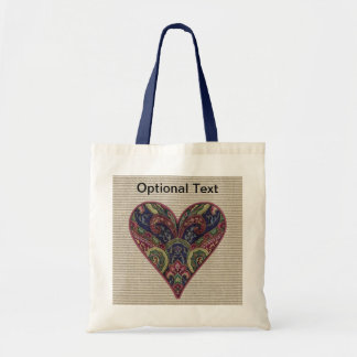 Tapestry Heart Collage Tote Bag