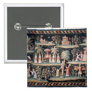 Tapestry in the Chinoiserie style of John van 15 Cm Square Badge